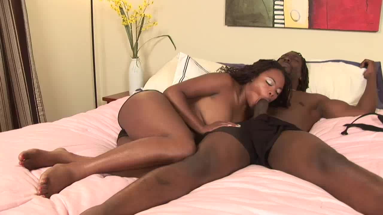 Black couple having sex at the hotel