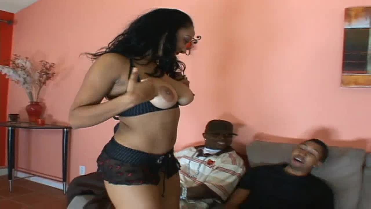 Interracial group sex with Misty Love